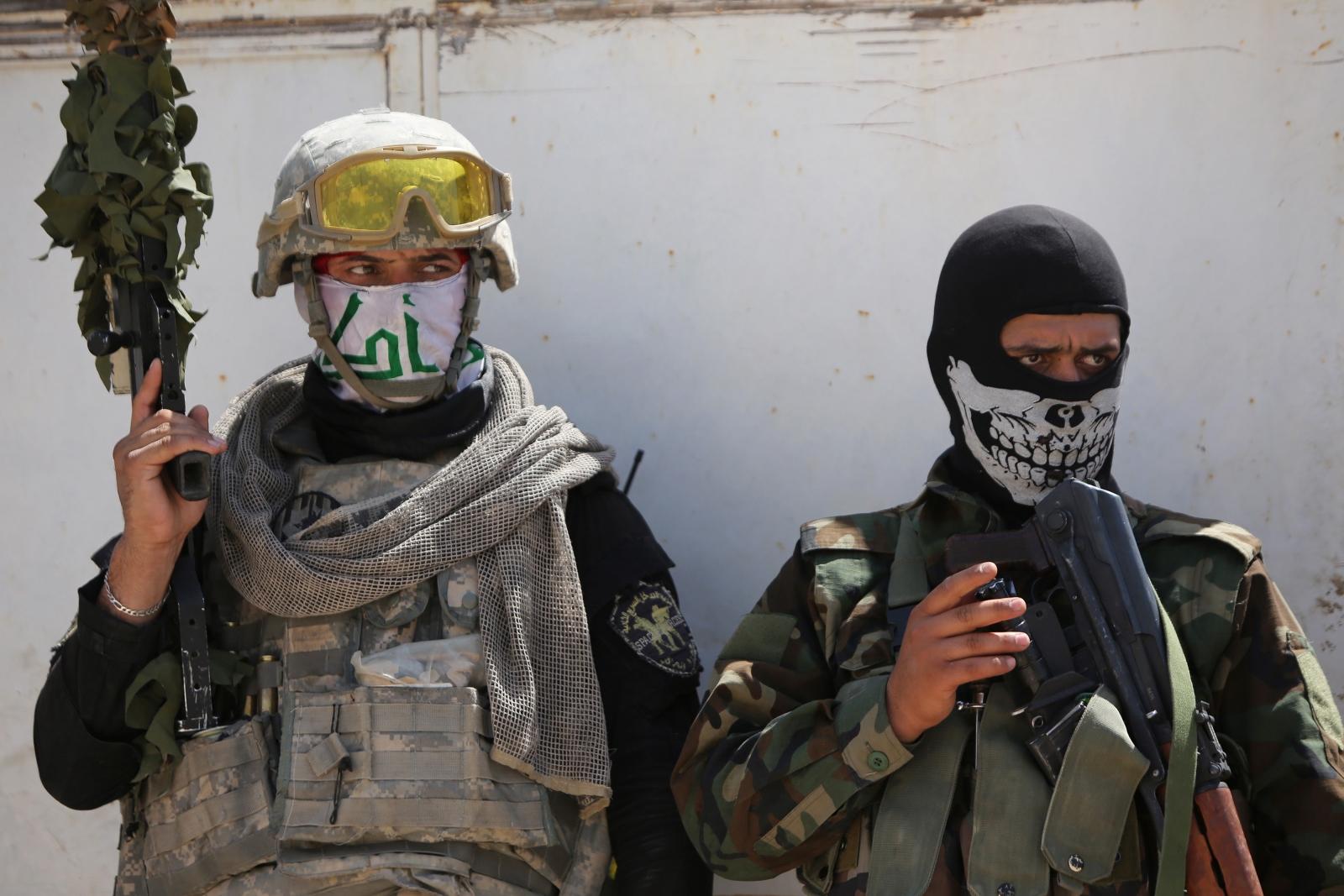 Shi'ite militia members in Iraq