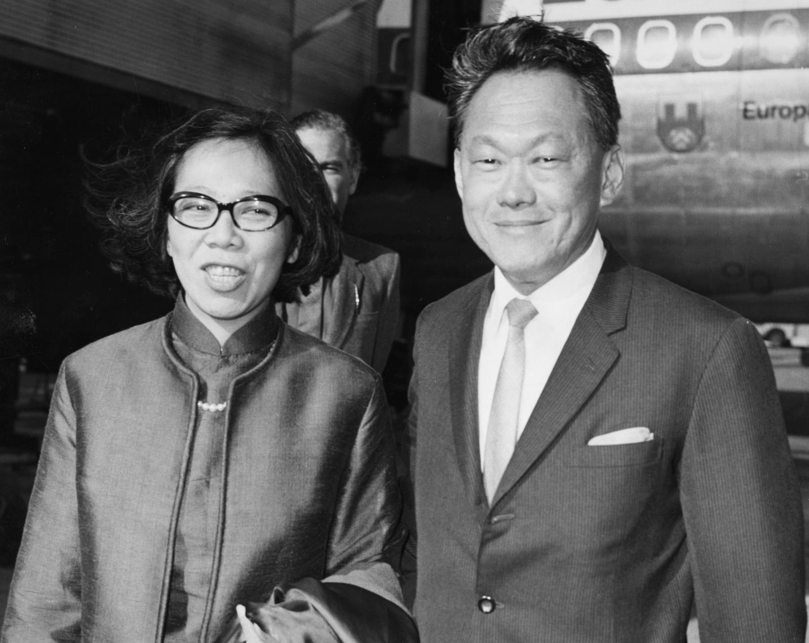 Lee Kuan Yew and his wife, 1970