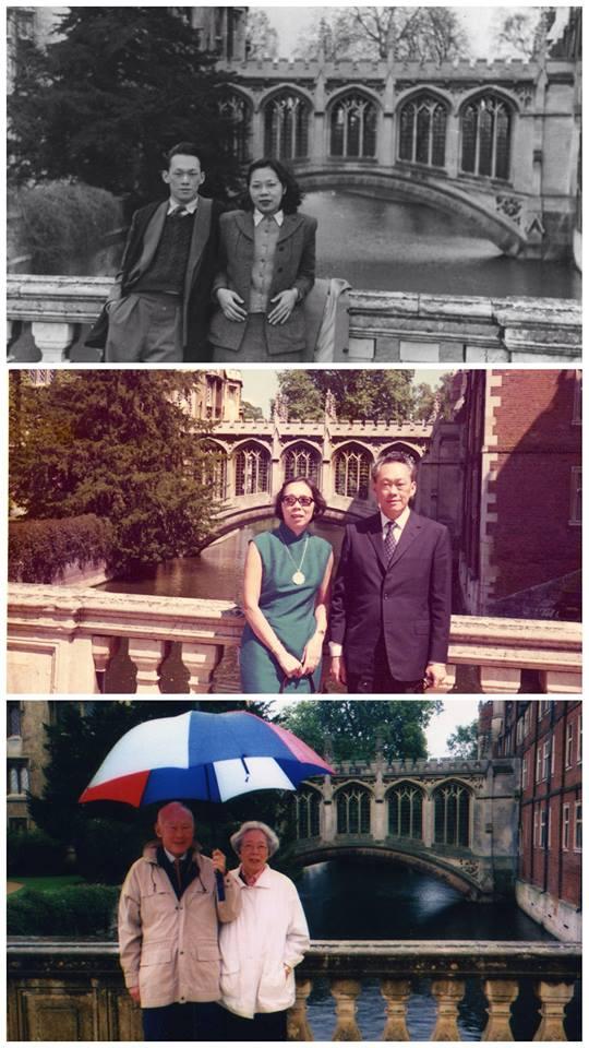 Lee Kuan Yew and wife in Cambridge