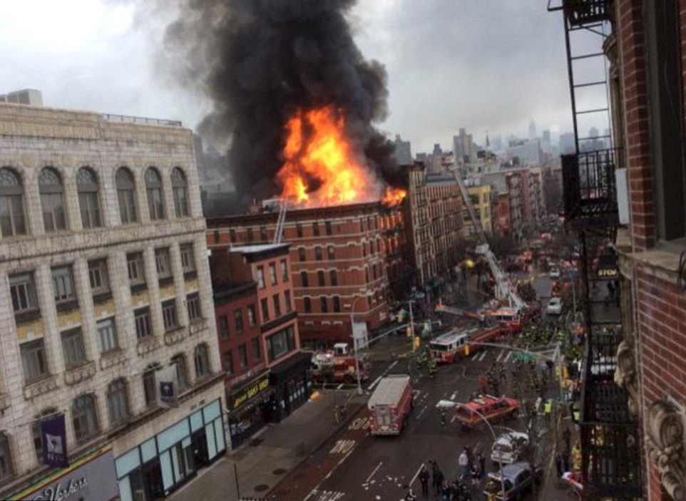 New York Building Blaze
