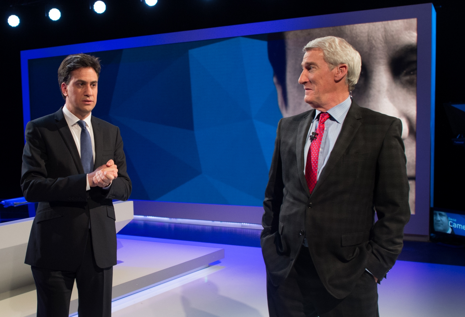 Ed Miliband and Jeremy Paxman