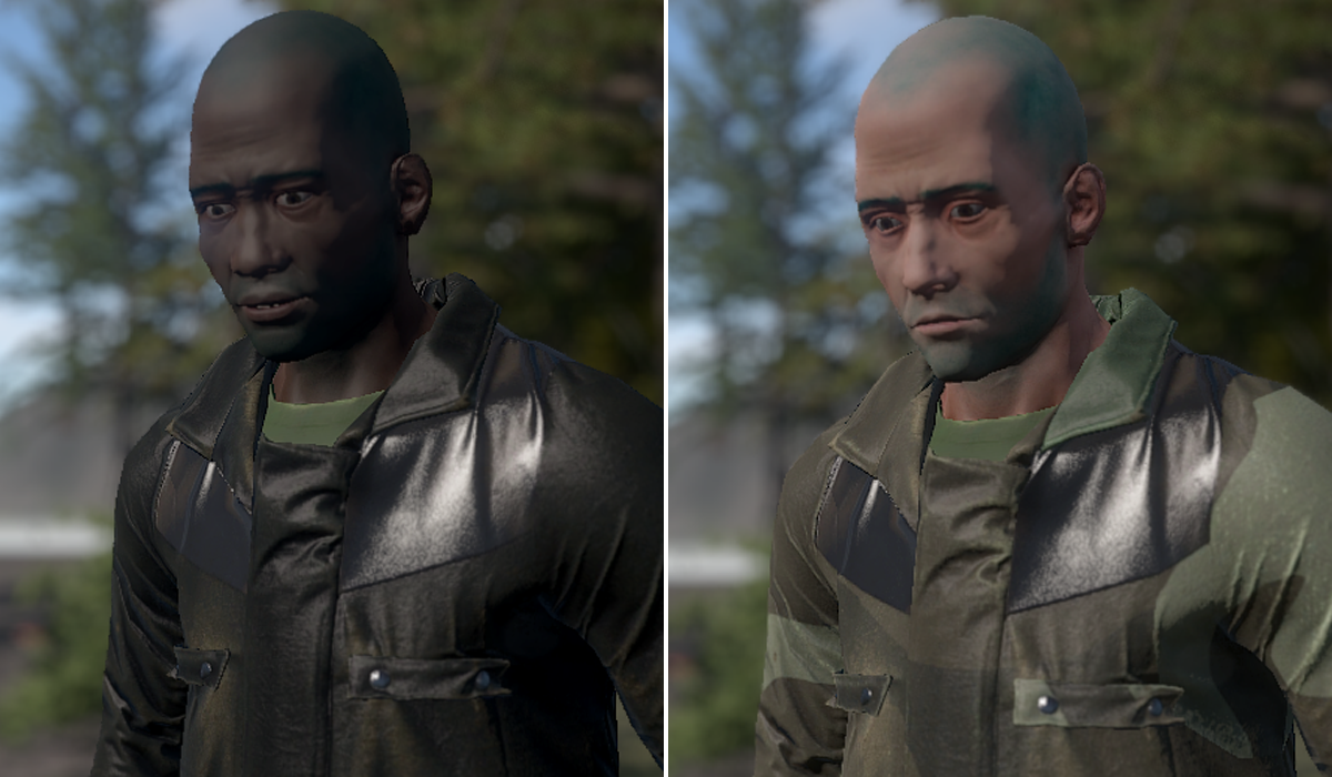 Rust random skin colour and face generator prompts mixed