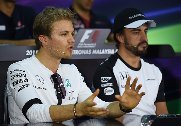 Nico Rosberg and Fernando Alonso