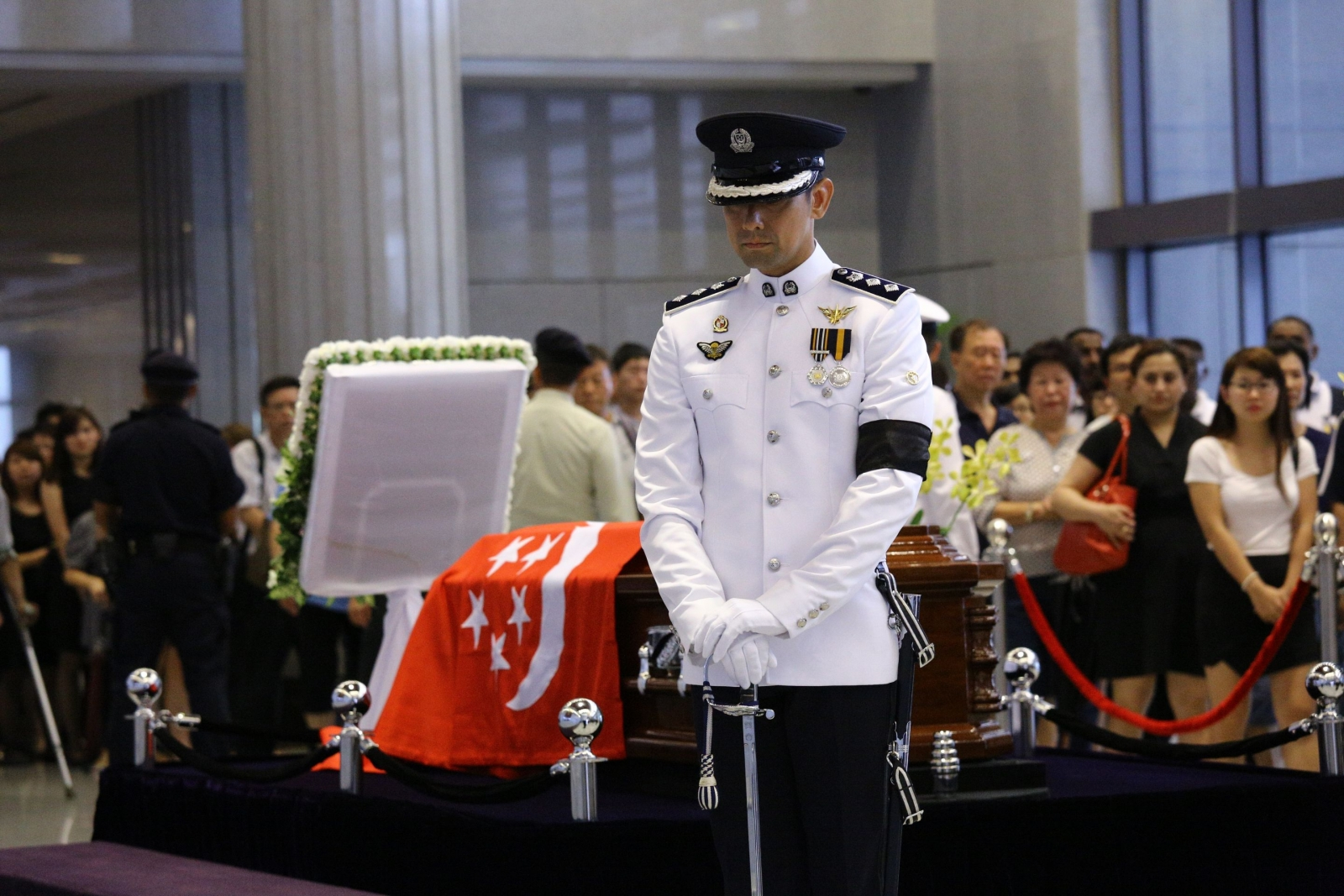 Lee Kuan Yew is lying in state