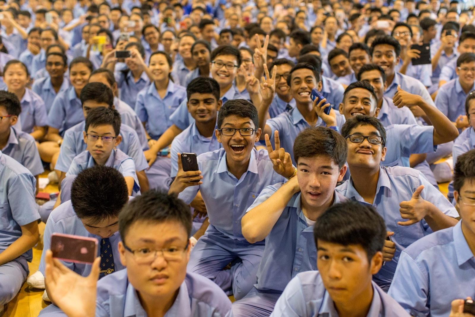 Singapore secondary school students