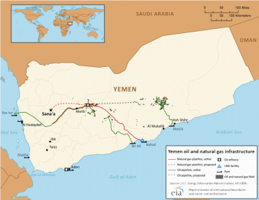 Yemen Oil and Gas Infrastructure.