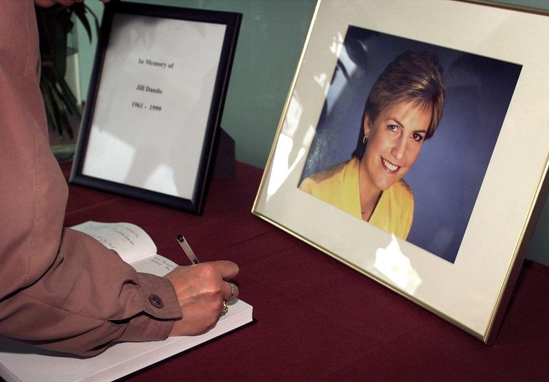 Jill Dando condolence book signing