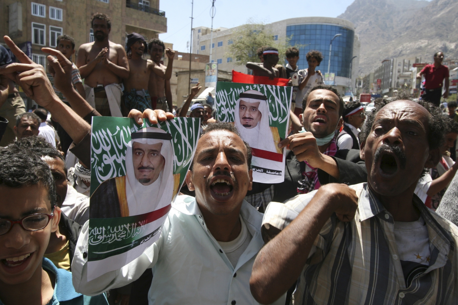 Pro-Saudi demonstrations in Yemen