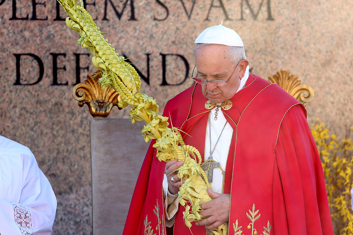 Palm Sunday pope