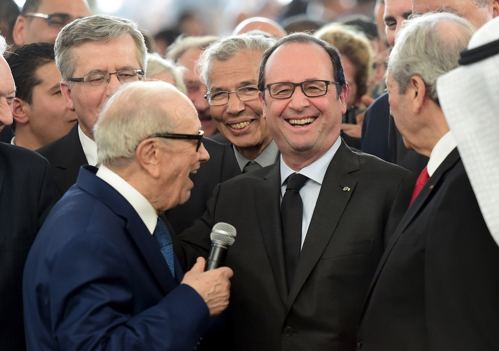Tunisian president Francois Mitterand Hollande