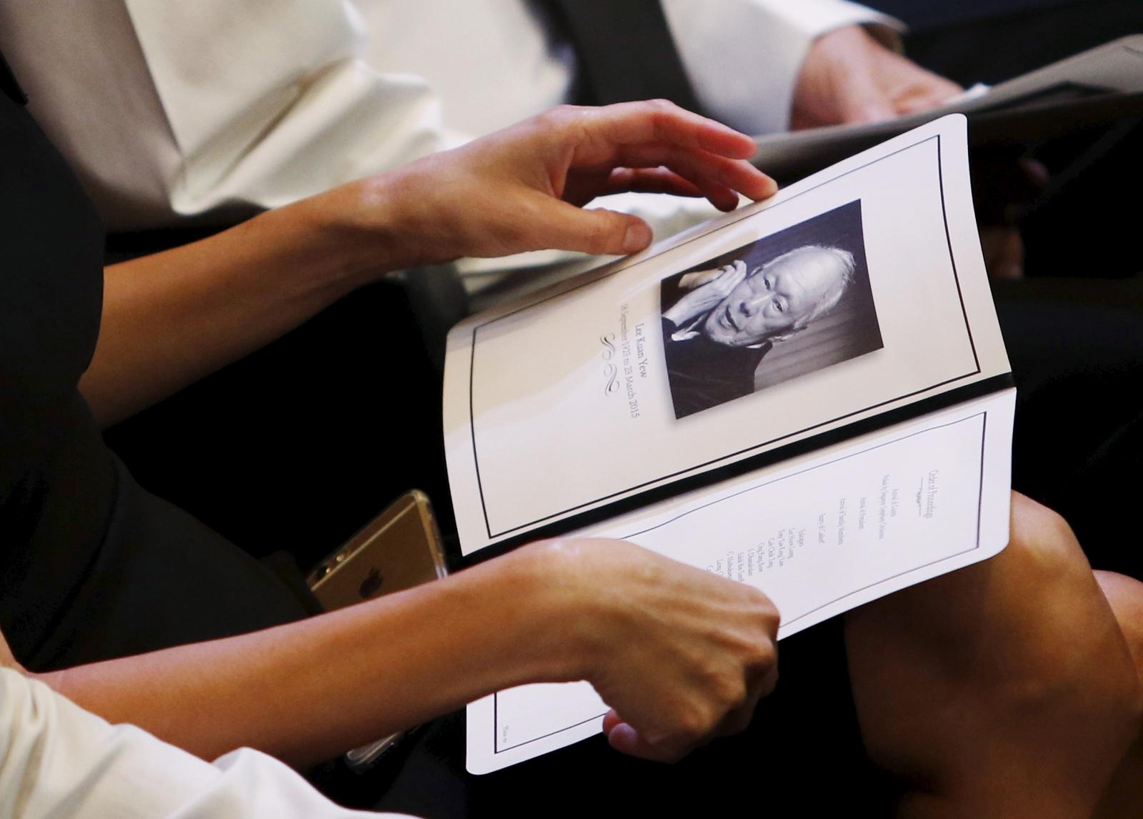 Lee Kuan Yew state funeral memorial booket