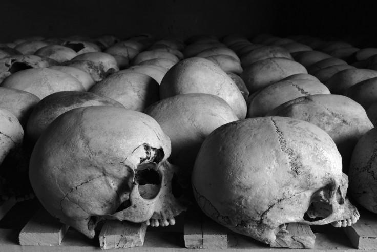 Rwandan genocide memorial skulls