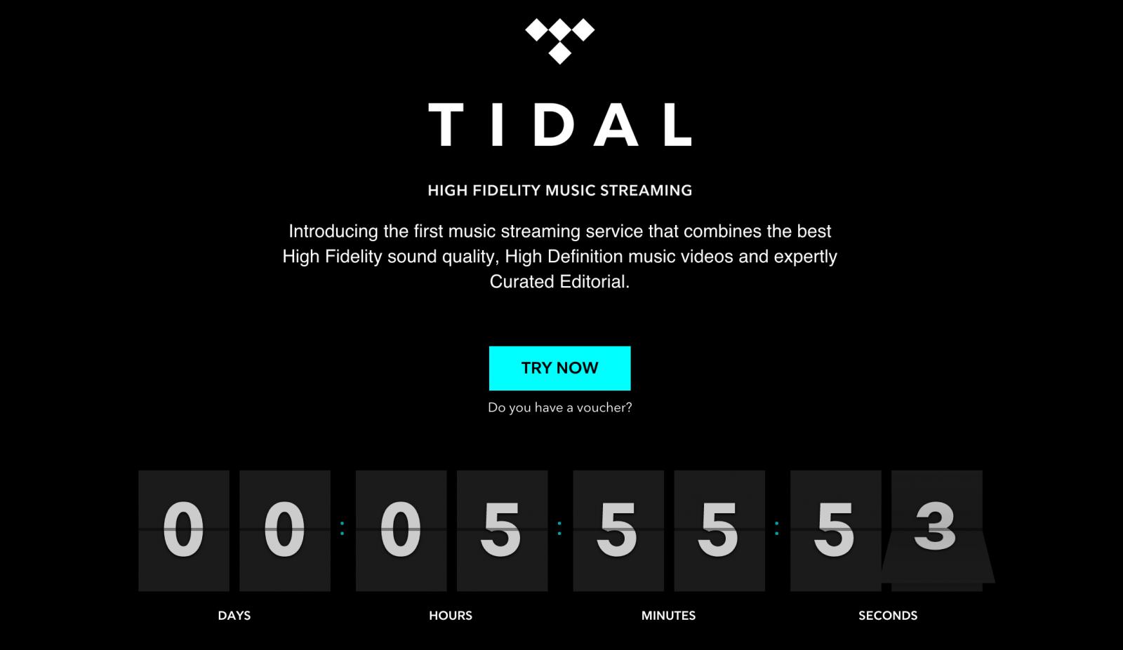 Tidal music streaming livestream