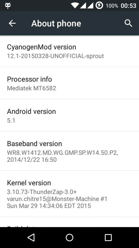 CyanogenMod 12.1 for Android One