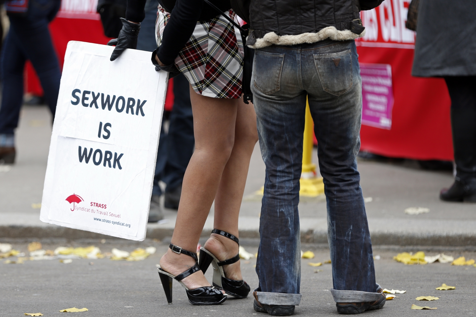 Sex workers protest France