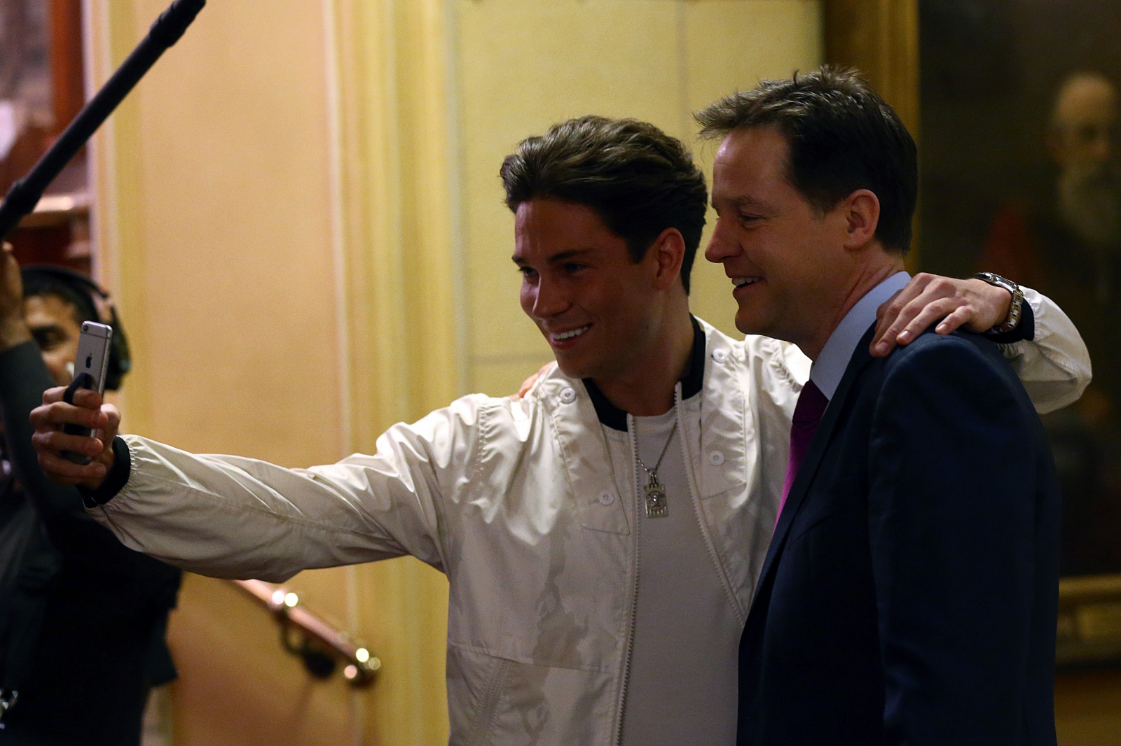 Joey Essex and Nick Clegg