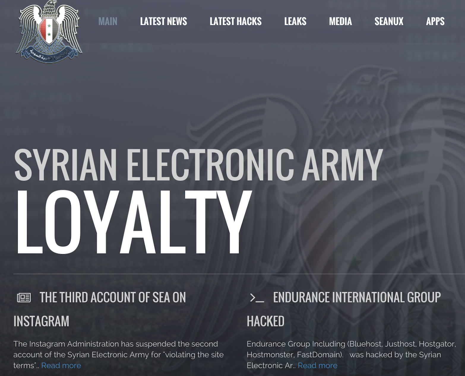 Syrian Electronic Army website