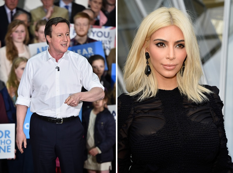 David Cameron and Kim Kardashian