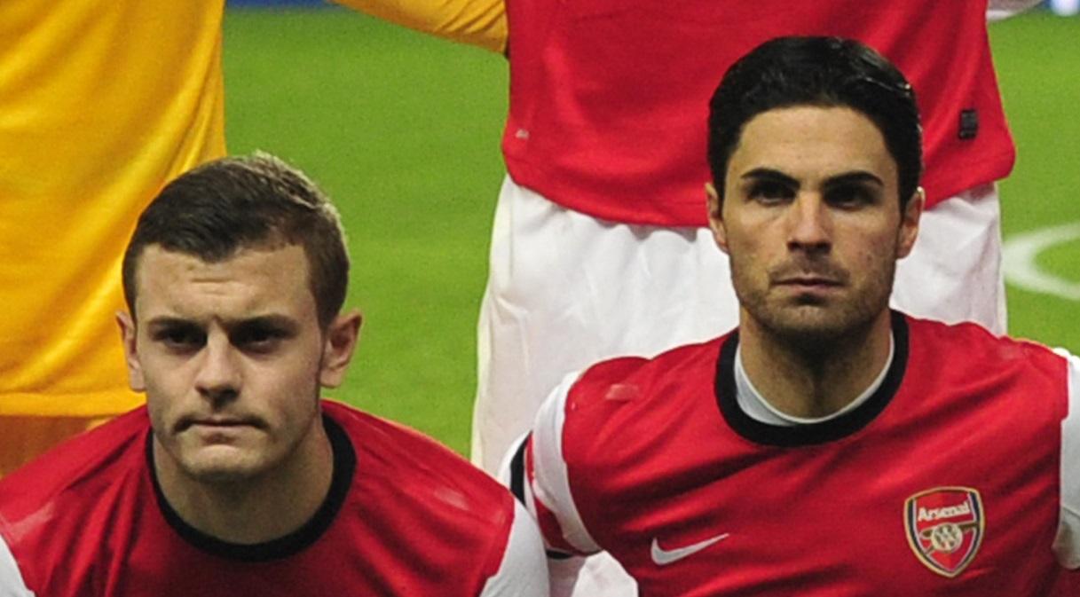 Jack Wilshere and Mikel Arteta