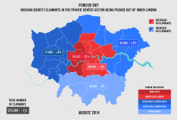 The percentage of housing claimants