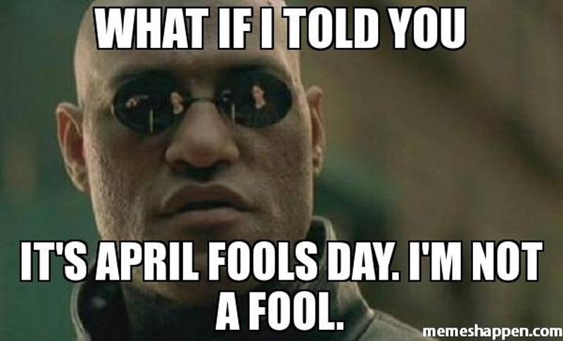 Matrix April Fools Day meme