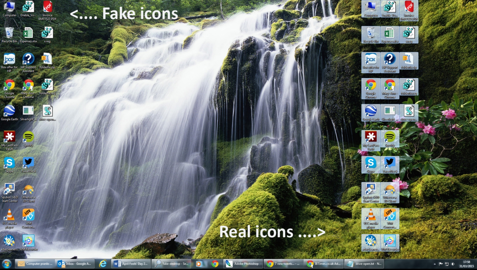 How to make a fake desktop