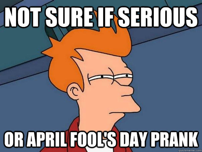 April Fools' Day 2015 prank meme