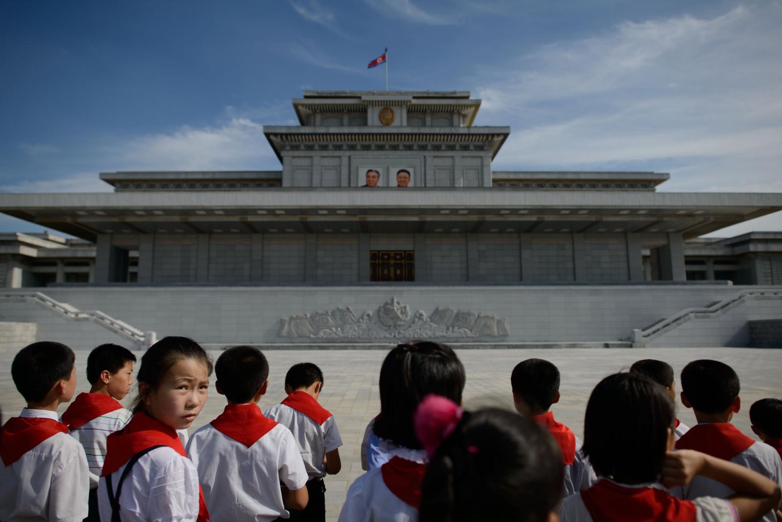 North Korean schoolchildren