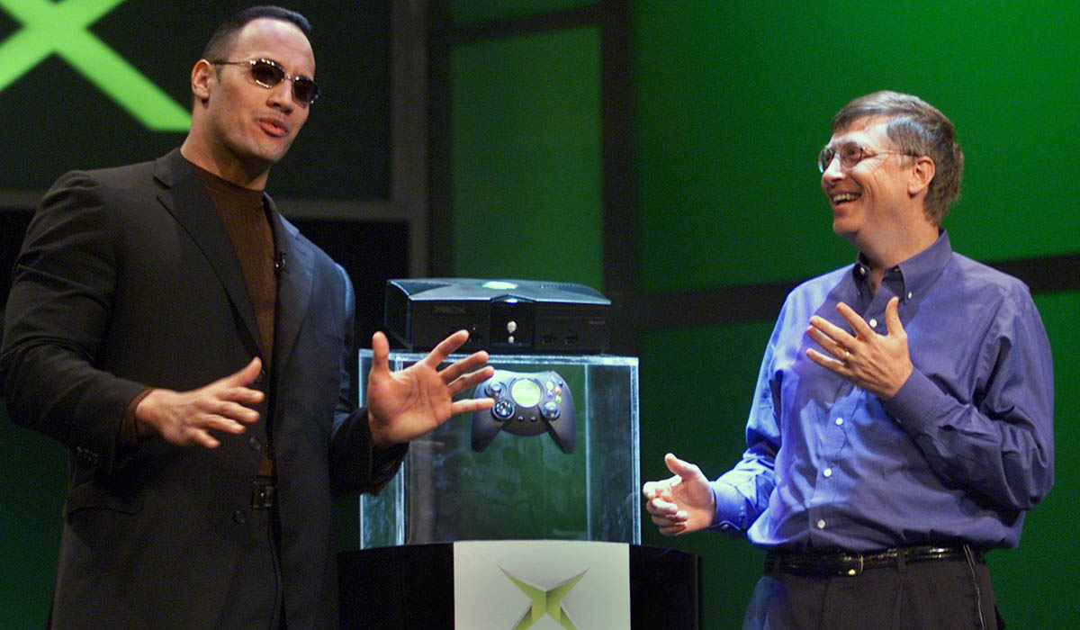 Microsoft Xbox Bill Gates The Rock