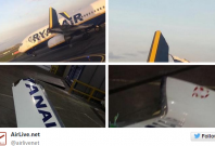 Ryanair planes collide on Dublin Airport runway