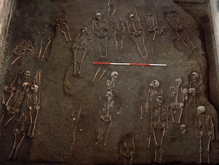 The skeletons were discovered intact