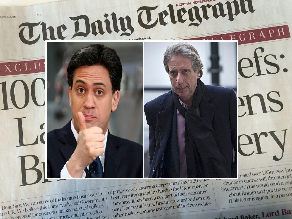 Malcolm Walker (left) not backing Ed Miliband