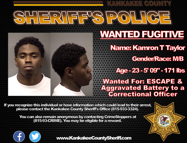 Kamron Taylor Wanted by Police
