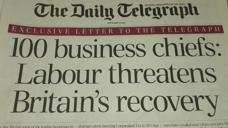 Telegraph business letter