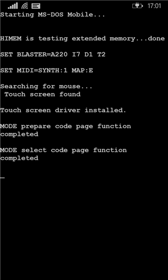 MS-DOS Mobile app