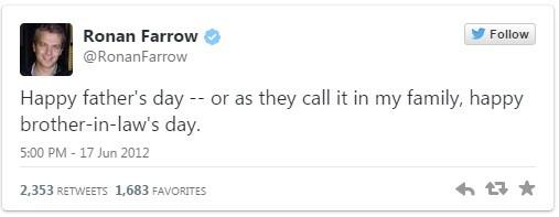 Ronan Farrow Woody Allen Tweet