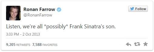 Ronan Farrow Frank Sinatra Tweet