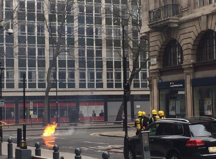 Fire in Holborn  finally extinguished