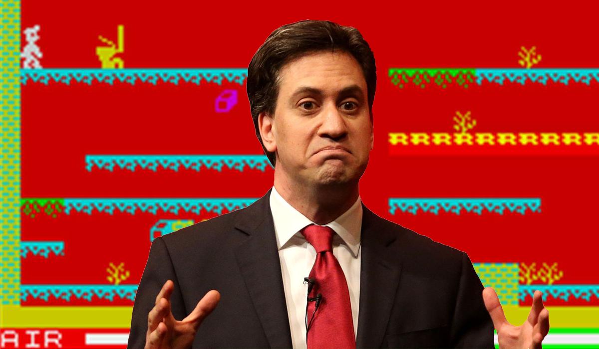 Manic Miner Ed Miliband