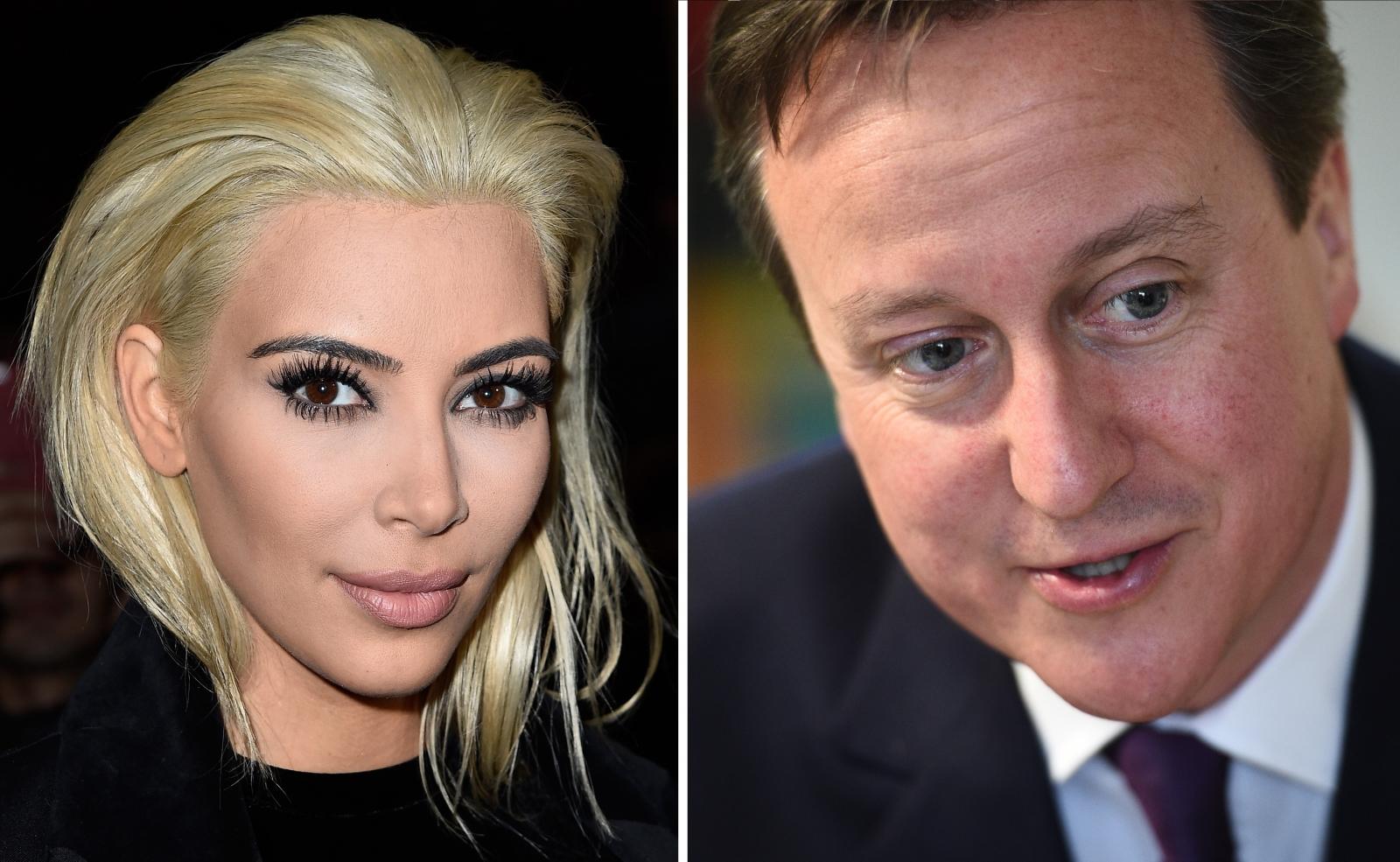 Kim Kardashian David Cameron