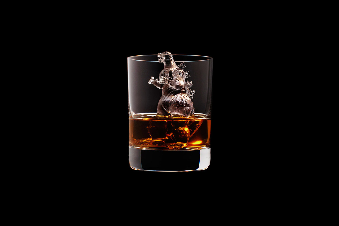 3d carved ice cubes