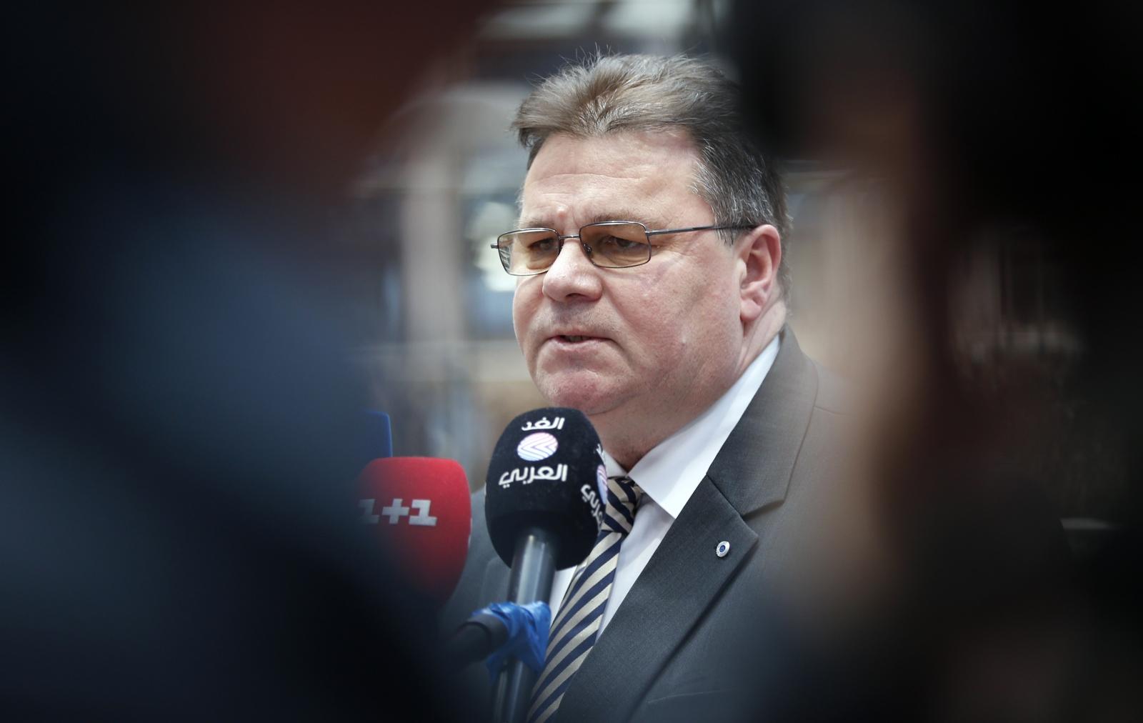 Lithuanias Foreign Minister Linas Linkevicius