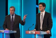 Nigel Farage and Ed Miliband