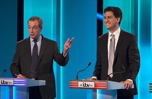Nigel Farage and Ed Miliband