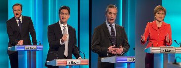 Cameron, Miliband, Farage, Sturgeon debate