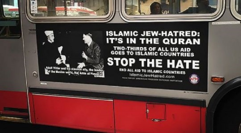 Hitler ads on Phladelphia buses