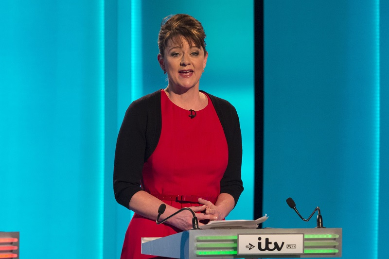 Leanne Wood Plaid Cymru leader in debate
