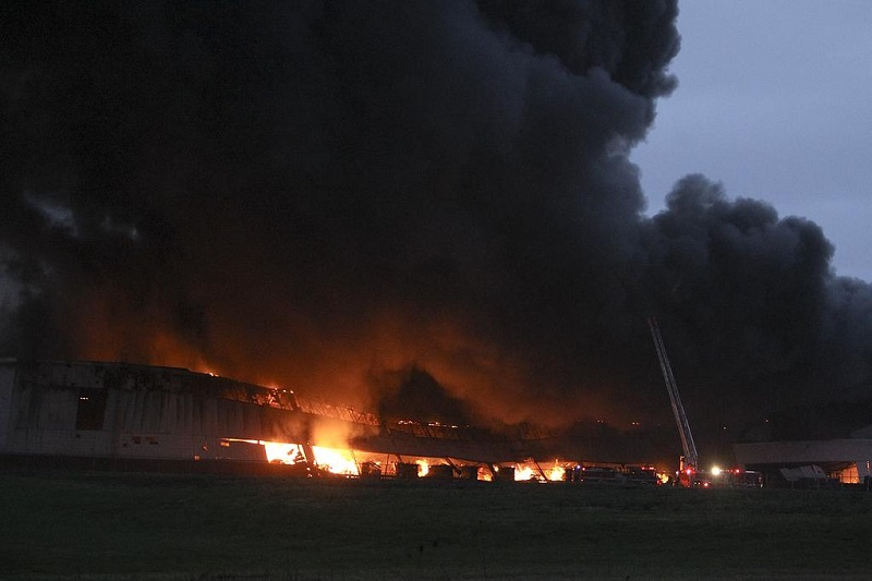 Fire destroys massive General Electric industrial park in