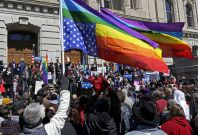 LGBT protest in Indiana