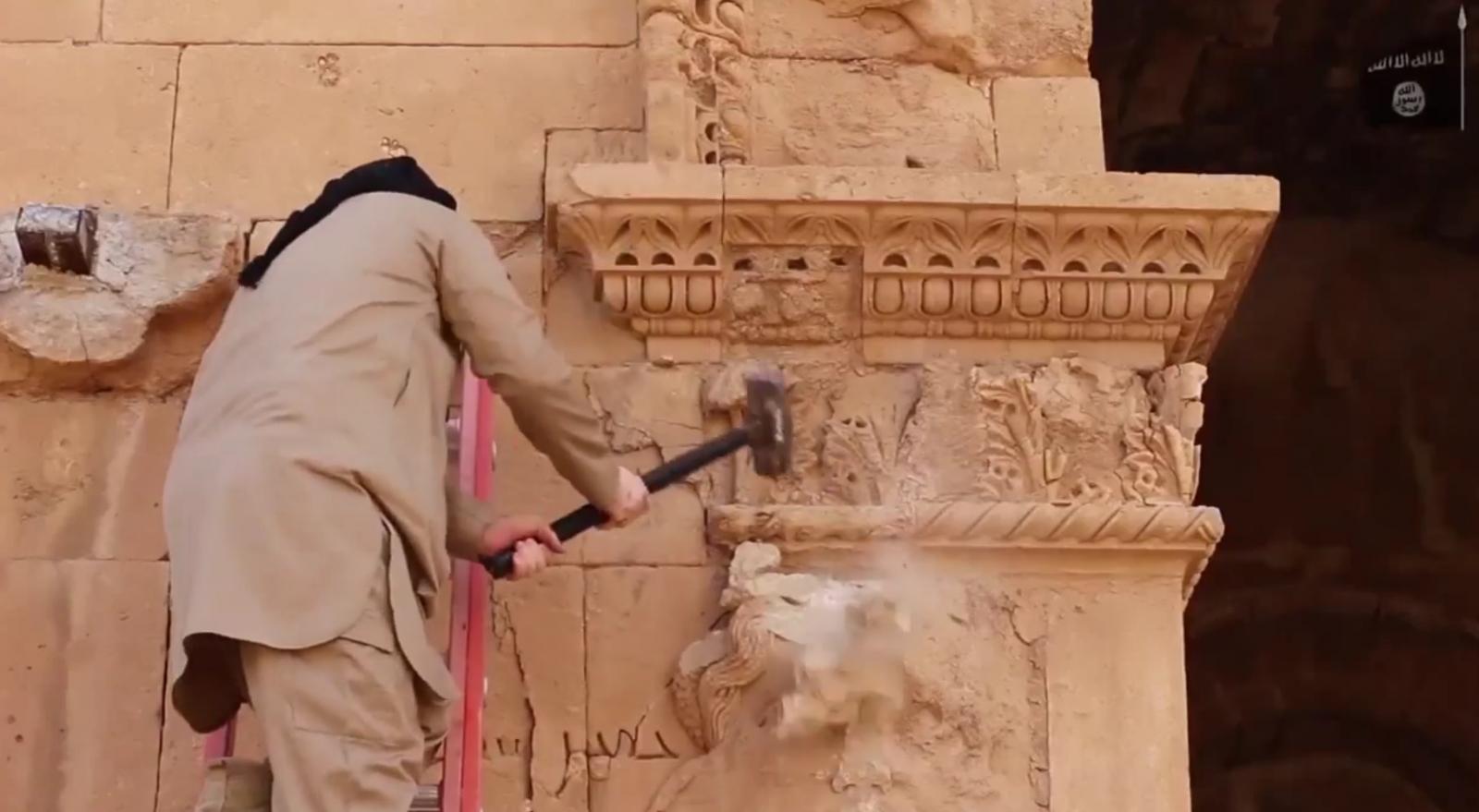 ISIS destroys Hatra Unesco Iraq
